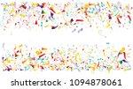 colored foil confetti falling... | Shutterstock .eps vector #1094878061