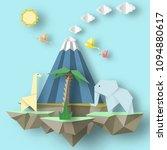 paper origami conceptual... | Shutterstock .eps vector #1094880617