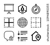 interface related set of 9...   Shutterstock .eps vector #1094890355