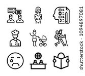 people related set of 9 icons... | Shutterstock .eps vector #1094897081