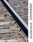 railroad spikes on railway | Shutterstock . vector #1094908385