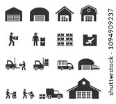 warehouse icon vector | Shutterstock .eps vector #1094909237