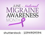 june is national migraine...   Shutterstock . vector #1094909594
