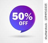 50  off discount sticker. sale... | Shutterstock .eps vector #1094910335