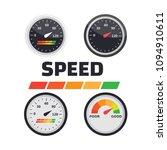 gauge chart meter. good and... | Shutterstock .eps vector #1094910611