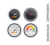 speedometer  tachometer vector. ... | Shutterstock .eps vector #1094910641