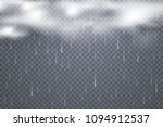 vector raindrops with clouds... | Shutterstock .eps vector #1094912537
