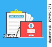 terms of service. clipboard... | Shutterstock .eps vector #1094914271