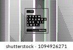 minimal retro futurism style... | Shutterstock .eps vector #1094926271