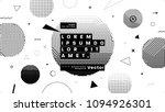 minimal retro futurism style... | Shutterstock .eps vector #1094926301