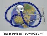 globe with stethoscope | Shutterstock . vector #1094926979