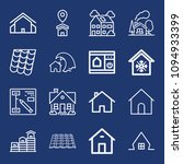 set of 16 house outline icons...   Shutterstock .eps vector #1094933399