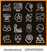 set of 16 people outline icons... | Shutterstock .eps vector #1094935004
