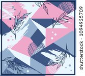 silk scarf patchwork pattern... | Shutterstock .eps vector #1094935709