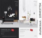 2 vertical banner furniture... | Shutterstock .eps vector #1094937704