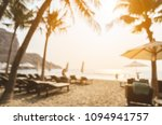 blurred image of sun beds and...   Shutterstock . vector #1094941757