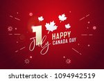 happy canada day  first of july.... | Shutterstock .eps vector #1094942519