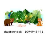 jungle or zoo themed animal... | Shutterstock .eps vector #1094945441