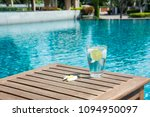 glass of cold water with ice... | Shutterstock . vector #1094950097