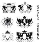 heraldry set shield | Shutterstock .eps vector #109495421