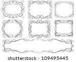 calligraphic set frames | Shutterstock .eps vector #109495445