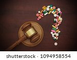 question mark shaped drug judge ...   Shutterstock . vector #1094958554