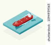 isometric oil tanker ship in... | Shutterstock .eps vector #1094959565