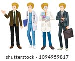 a set of male occupation... | Shutterstock .eps vector #1094959817