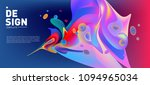 modern colorful flow poster.... | Shutterstock .eps vector #1094965034