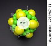 3d molecule. molecular... | Shutterstock .eps vector #1094967491
