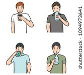 vector set of man drinking | Shutterstock .eps vector #1094973641