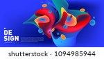 modern colorful flow poster.... | Shutterstock .eps vector #1094985944