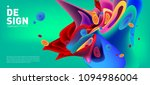 modern colorful flow poster.... | Shutterstock .eps vector #1094986004