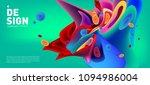 modern colorful flow poster.... | Shutterstock .eps vector #1094986004