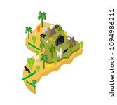 south america isometric map... | Shutterstock .eps vector #1094986211