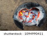 charcoal brazier for cooking  | Shutterstock . vector #1094990411