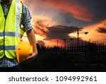 engineering man standing with... | Shutterstock . vector #1094992961