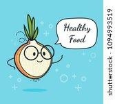 onion with speech bubble....   Shutterstock .eps vector #1094993519