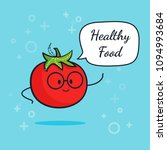 tomato with speech bubble.... | Shutterstock .eps vector #1094993684