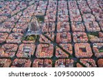 aerial view of barcelona... | Shutterstock . vector #1095000005