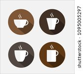 hot coffee cup or hot tea cup... | Shutterstock .eps vector #1095005297