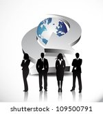 business people with arrows... | Shutterstock .eps vector #109500791