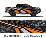 truck and car graphic... | Shutterstock .eps vector #1095013001
