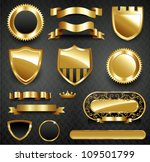 decorative ornate gold frame... | Shutterstock .eps vector #109501799