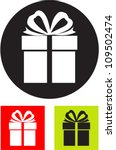 gift box. vector icon. | Shutterstock .eps vector #109502474