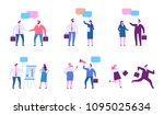 business people character set.... | Shutterstock .eps vector #1095025634