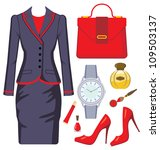 fashion set from a female suit  ... | Shutterstock .eps vector #109503137