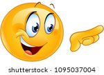 happy emoticon pointing with... | Shutterstock .eps vector #1095037004