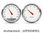 speedometer and tachometer.... | Shutterstock . vector #1095038501