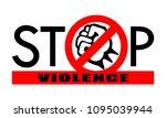 symbol or sign stop violence....   Shutterstock .eps vector #1095039944